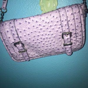 Handbags - Purple Textured Crossbody Bag
